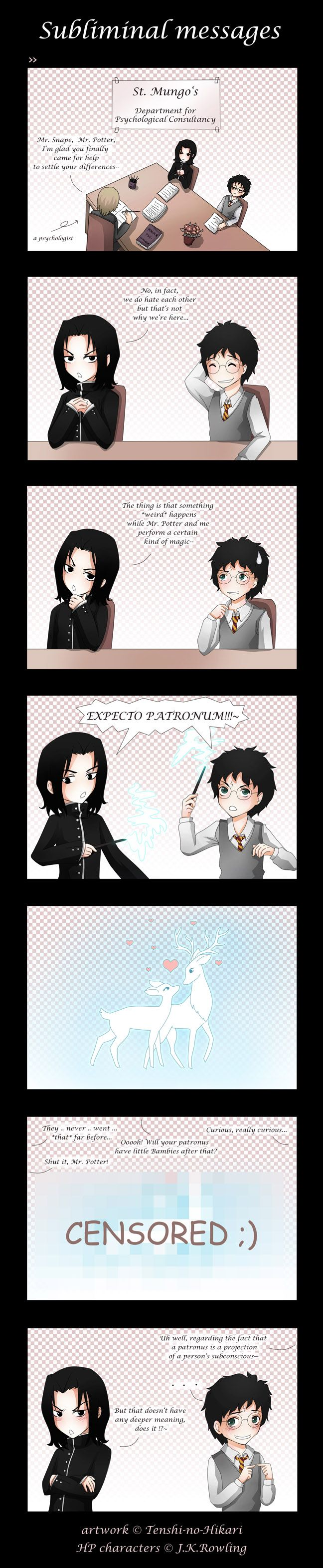 HP - Severus Snape and Harry Potter, expecto patronus - Subliminal messages by Tenshi-no-Hikari