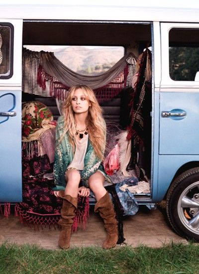 Nicole Richie became known for her coveted haute bohemian style, which she has translated into her career. House of Harlow 1960 is named after Nicole's daughter and draws inspiration from Native American designs, vintage and the hedonistic 1960s-1970s era. Since debuting in Australia, the 50-piece collection has become a hot commodity.    #boho #bohemian #gyspy