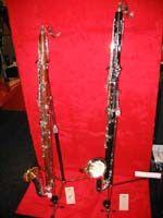 Two bass bass clarinets of mopane wood