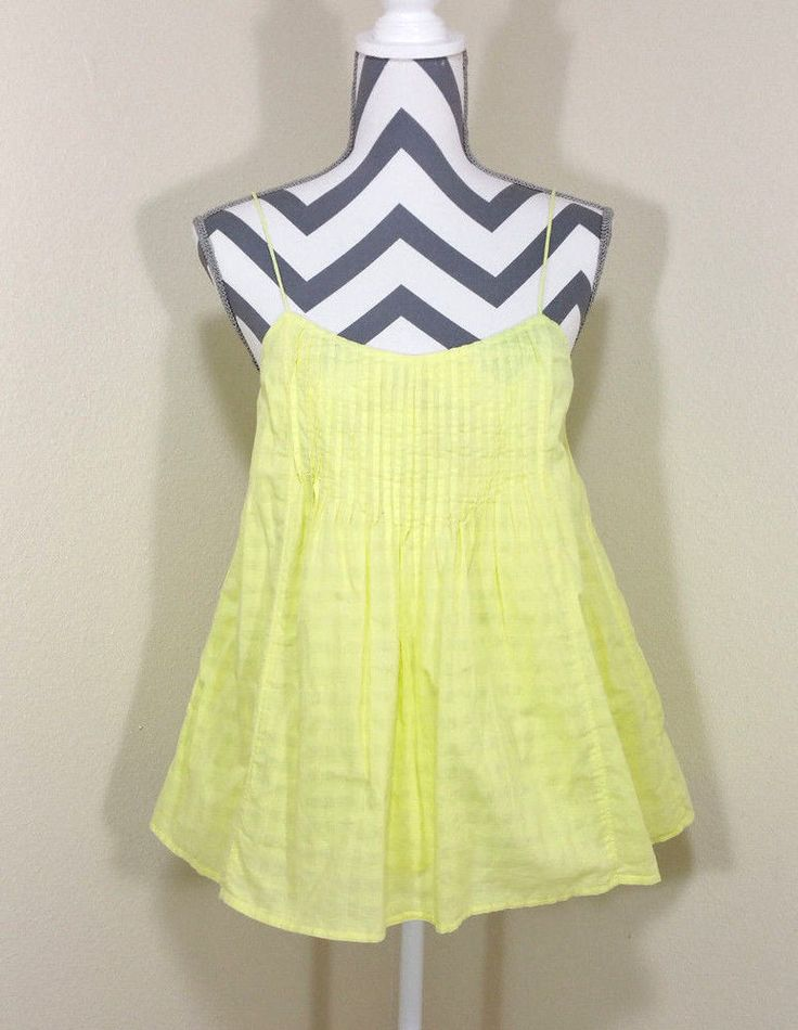 J Crew Bright Yellow Cami Boho Top Womens Size 6 Coachella Blouse  | Clothing, Shoes & Accessories, Women's Clothing, Tops & Blouses | eBay!