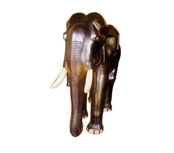 Hand Carved #Wooden Elephant #Showpiece #elephantstatue