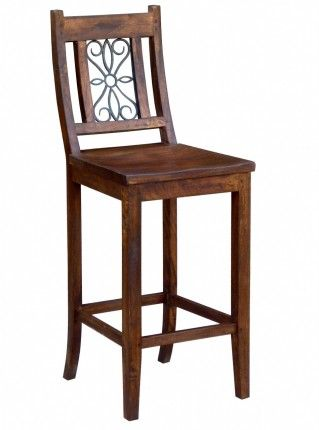 Anderson Bar Chair in brown