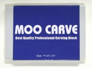 Amazon.com: MOO Carve Block 4 by 6 by 0-3/4-Inch, Stamp Carving and Printmaking: Arts, Crafts & Sewing