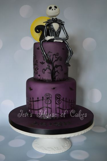 Nightmare Before Christmas Hand Painted Cake