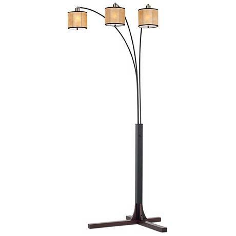 nova legna triple lantern arc floor lamp