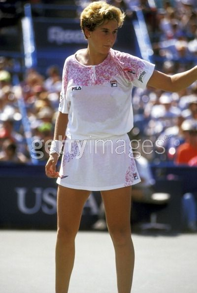 Athlete Monica Seles plays in...
