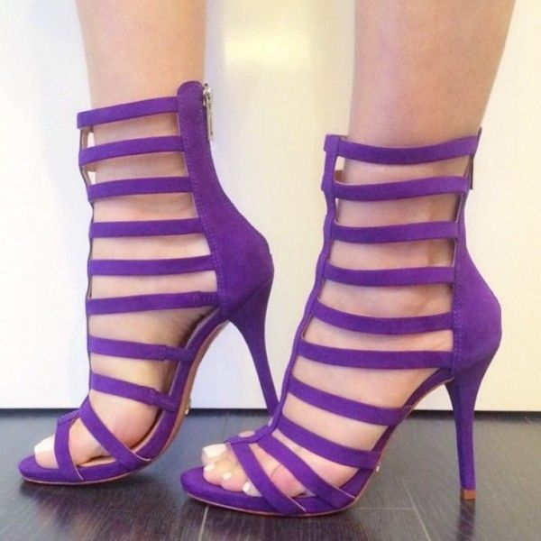 Women's Style Gladiator Sandals Purple Gladiator Sandals Open Toe Stiletto Heels Shoes Fall Fashion Trends 2017 Fall Outfits Women Homecoming Dresses Shoes for Party, Night club | FSJ
