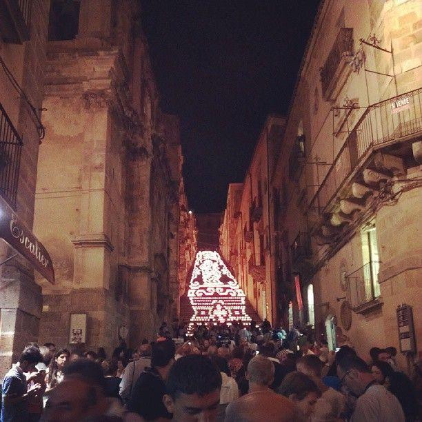 Caltagirone e la scalinata illuminata per ferragosto - 14 Agosto 2013.