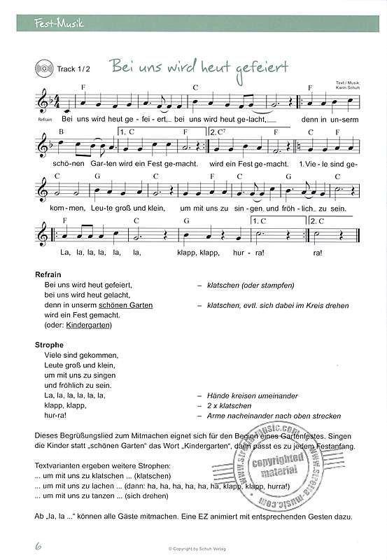 Fest Musik im Kindergarten von Karin Schuh