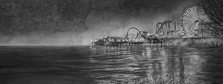 Hans Op de beek  http://www.ronmandos.nl/sites/default/files/exhibitions/work-pictures/hans_op_de_beeck_amusement_park_black-and-white_watercolor_on_arches_paper_in_wooden_frame_130_x_290_cm_2015.jpg