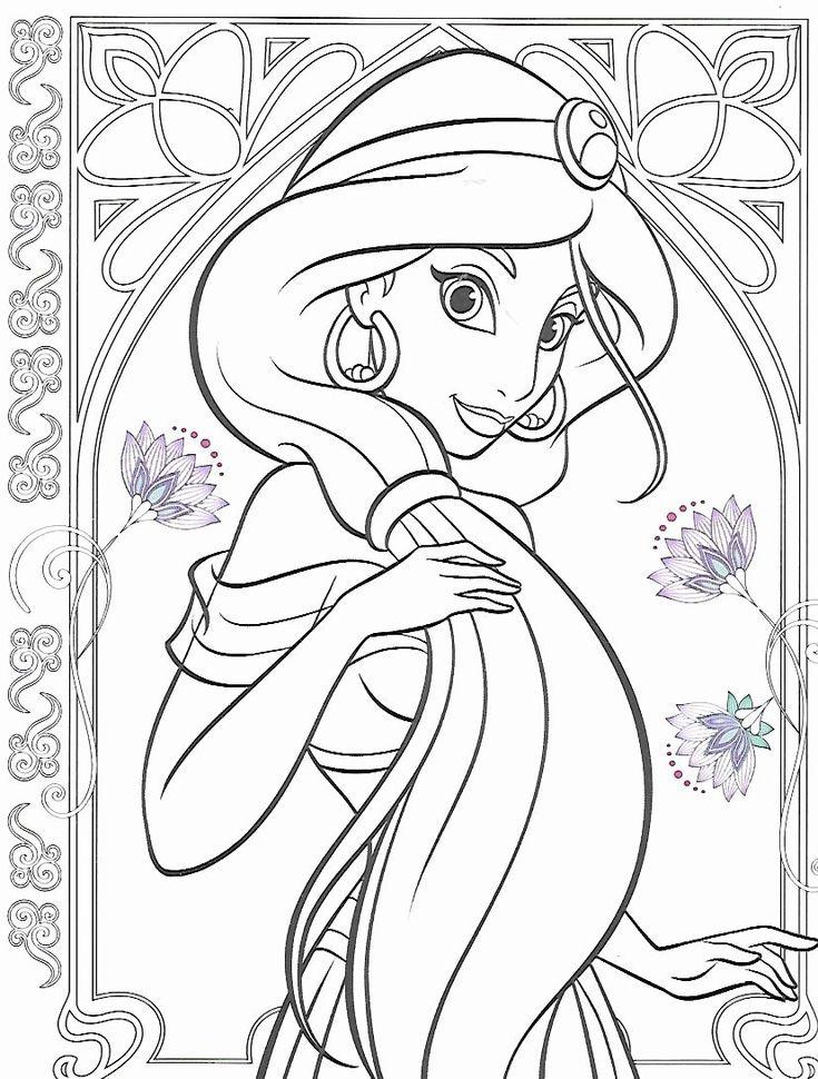 21 Disney Princess Adult Coloring Book in 2020 | Princess ...