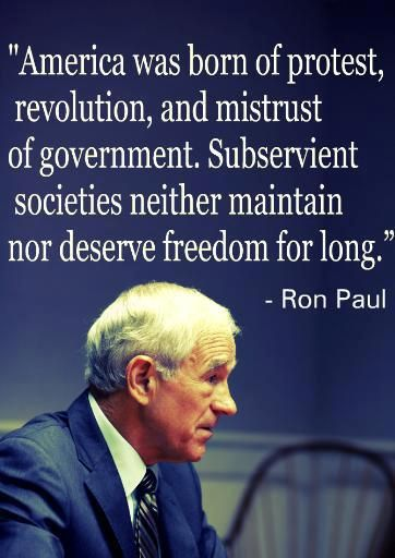 Ron Paul...mistrust of government