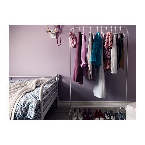 MULIG Clothes rack IKEA Can be used anywhere in your home, even in damp areas like the bathroom and under covered balconies. $9.99