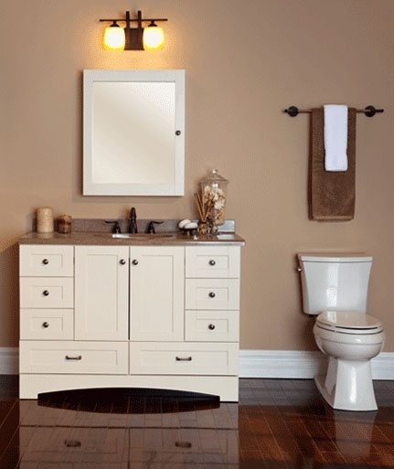 Bring Functional Style To Your Bath With This St. Paul Manchester Vanity  Cabinet Only In Vanilla.
