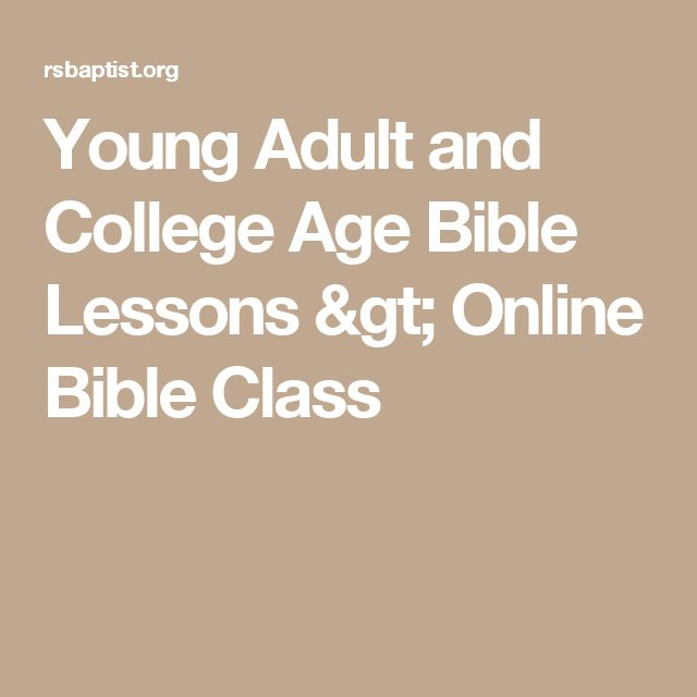 Can recommend. adult lesson school sunday young think