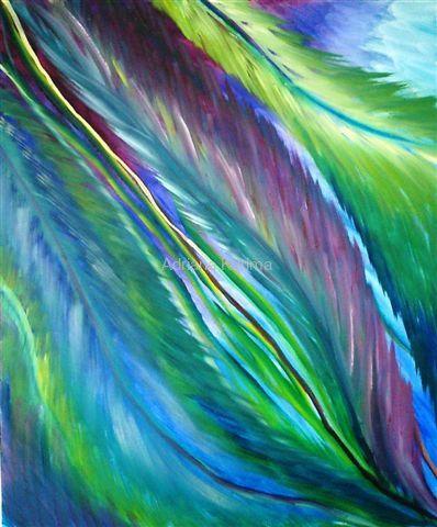 Opieka, 2008 Adriana Karima  Rozmiar oryginału 50 cm x 70 cm   Otulona skrzydłami anioła zawsze jestem bezpieczna.   Oryginał w kolekcji prywatnej Dostępne reprodukcje