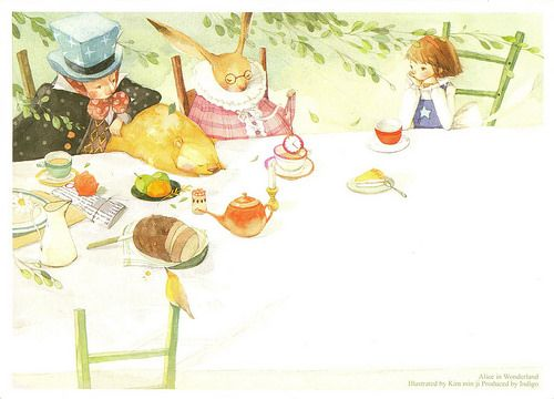 'The Mad Hatter's Tea Party' by Kim Min Ji from 'Alice's Adventures in Wonderland' (Lewis Carroll)