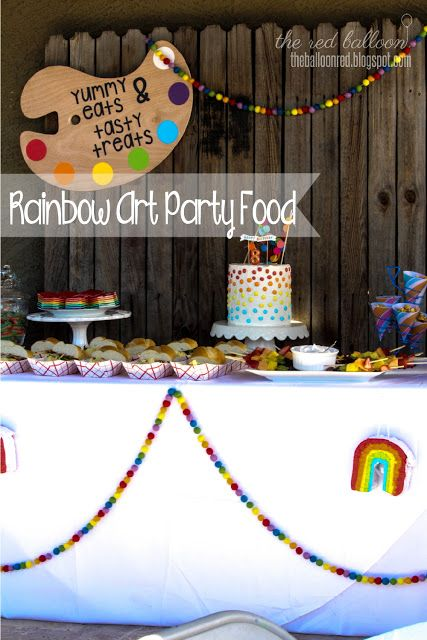 Rainbow Art Party- The Food! ~ The Red Balloon