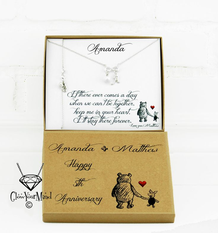 Girlfriend Christmas gift Personalized Girlfriend gift Gift for wife Anniversary Gift Relationship Gift Winnie the pooh Girlfriend Birthday by GlowYourMindJewelry on Etsy