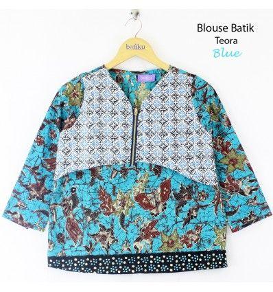 BLOUSE BATIK TEORA BLUE