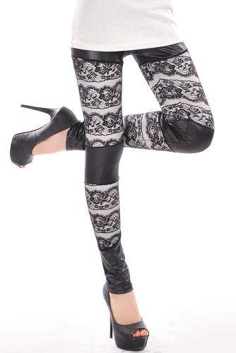 Black Refined Lace Entrance Sexy Leggings FunLeggings http://www.amazon.com/dp/B00P2VWU9Q/ref=cm_sw_r_pi_dp_ikoOub057R0C8
