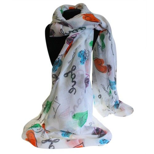 Wholesaele Bit Posh Scarves - Hip Angels These scarves comes in large sizes and  featured in love hearts and beautiful colours.   They are light scarves and very comfortable to wear in any time of the year.  #Wholesale_Scarves #summer_Scarves #Heart_Scarves #Love_Scarves #Love_Hearts_Scarves