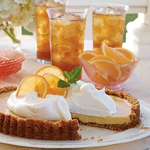 Sweet Tea Icebox Tart    A cool citrus-flavored tart with a hint of sweet tea is the perfect summertime dessert. Serve in a Gingersnap Crust, or use your favorite prepared crust for an easy shortcut.