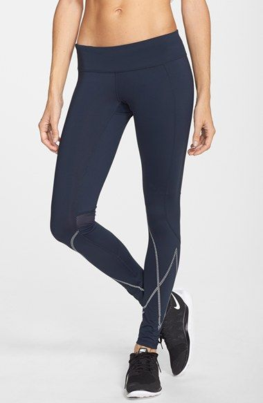 Free shipping and returns on Zella 'Reflections' Leggings at Nordstrom.com. Rows of reflective dots zip around the lower legs of moisture-wicking leggings, extending your run well into low-lit hours, while mesh insets behind the knees vent excess heat.