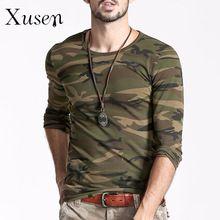T Shirt 2016 New Men Printed Camouflage Autumn Fashion Man Camo Cotton Clothing Long Sleeve Army Green T-shirt Fashion Tees(China (Mainland))