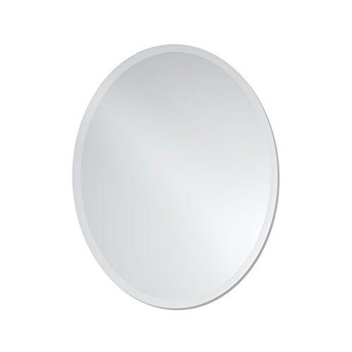 Small Frameless Beveled Oval Wall Mirror   Bathroom, Vanity, Bedroom Mirror   22-inch x 28-inch #Small #Frameless #Beveled #Oval #Wall #Mirror #Bathroom, #Vanity, #Bedroom #inch
