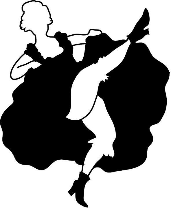 western saloon cancan silhouette si aprano le danze