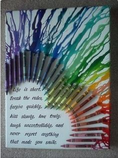 I will definitely be doing this soon and it's a nice twist on the classic crayon melting technique. Personalise this with your favourite quote and you could even change the shape as well.