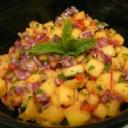 Fresh Mango Papaya Kiwi Salsa - ohhh yeah.