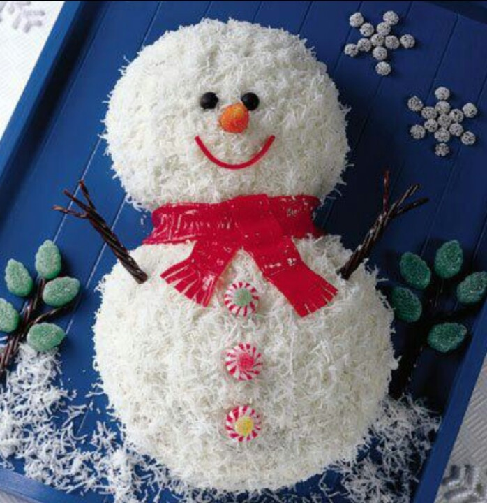 Coconut SnowMan | Xmas Desserts & Beverages | Pinterest