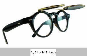Flip-Top Clear Lens Sunglasses - 298A