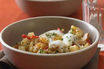 Cast Iron Skillet Turkey Hash with Soft-Cooked Eggs   Potato Hash