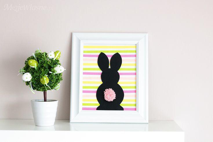 DIY: Wielkanocny zajączek z pomponem – Moje Własne