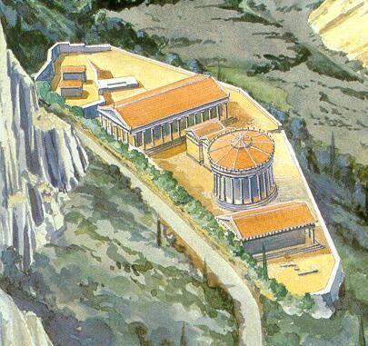 The Shrine of the Goddess Athena. The Pronaia Sanctuary, Delphi