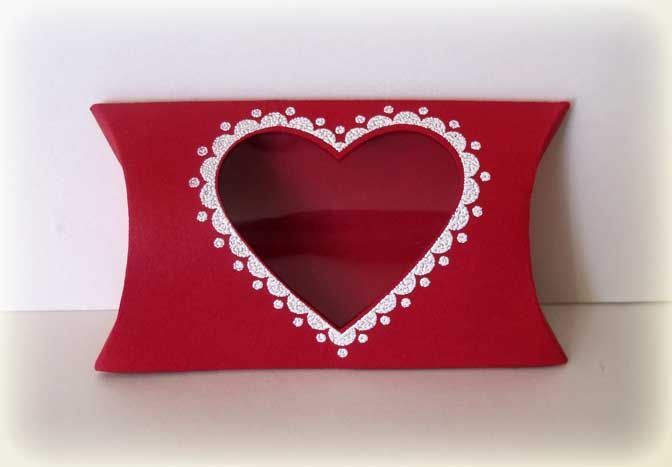 the pillow box sizzix die is a quick and easy way to make a valentine .