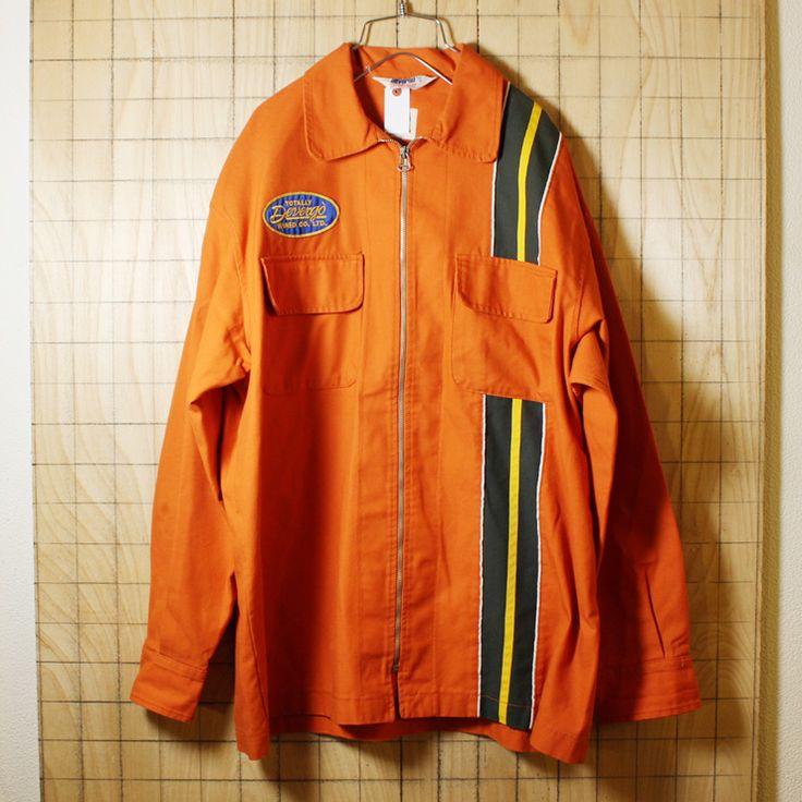 DEVERGO STREETSIDE/イタリア製euro古着/オレンジ/レーシングワークジャケット/カバーオール/メンズL相当