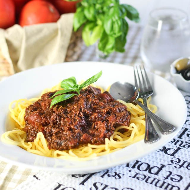 http://thehealthyfoodie.com/2013/08/16/pasta-alla-bolognese-paleo-style/