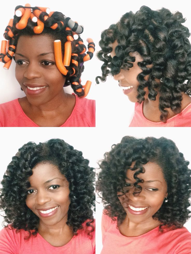 flexi rods hair styles flexi rod set on hair by misst1806 done on 1821