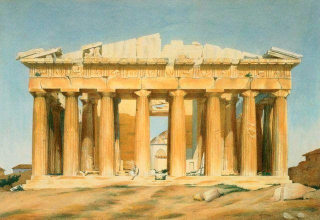 Louis Dupré. 1810, The Parthenon, private collection.