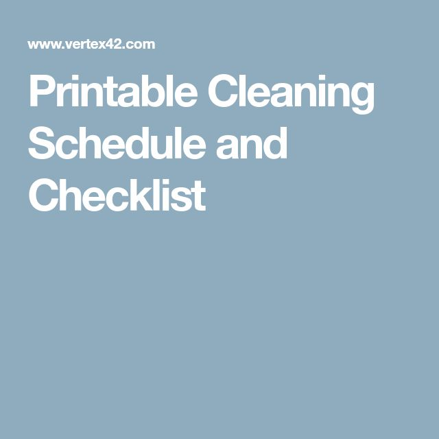 The 25+ best Cleaning schedule templates ideas on Pinterest - cleaning schedule template