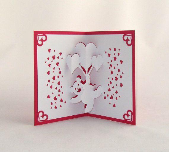 102 best images about 3D Pop up Cards – 3d Valentine Cards