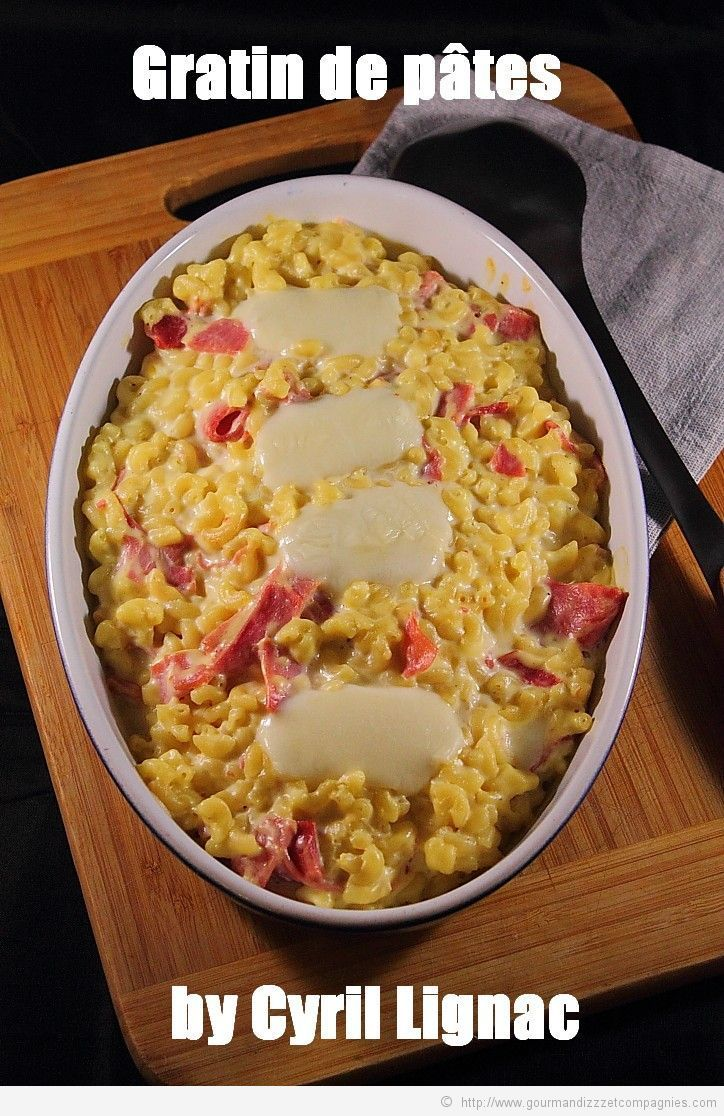 gratin de pâtes by cyril Lignac bis
