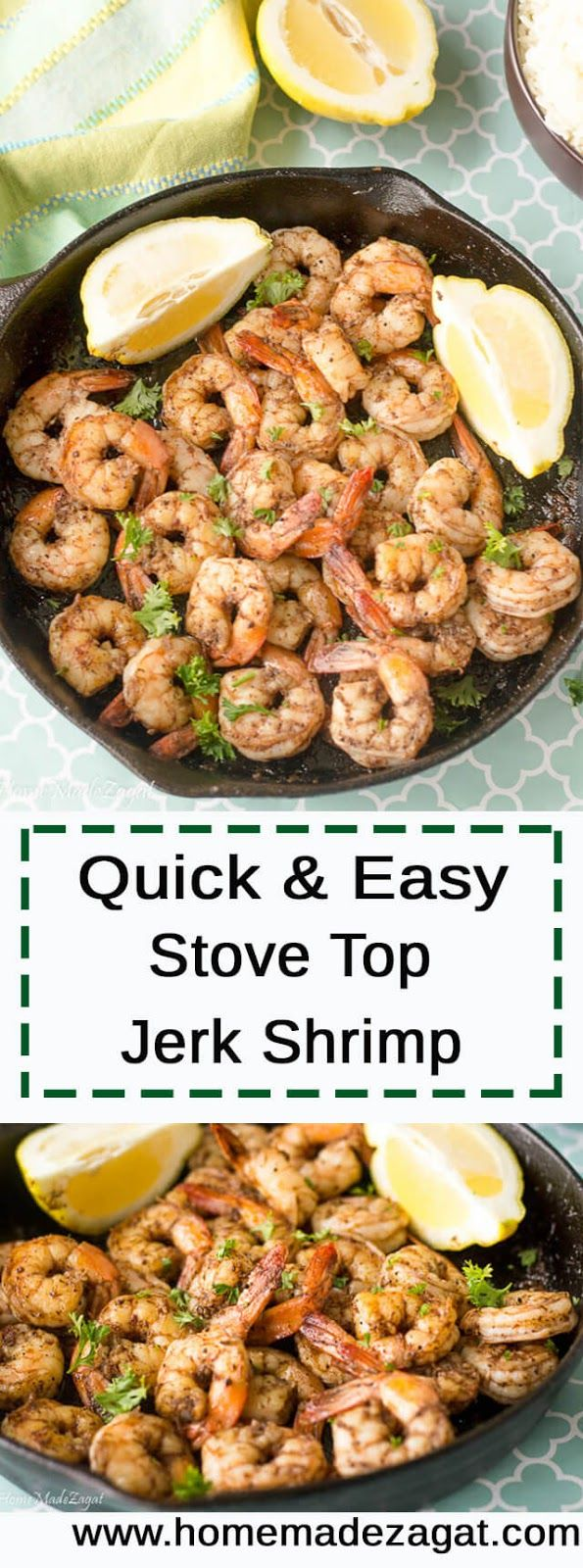 An easy recipe for making a quick, delicious jerk shrimp that can be easily used to top salads, or added into other dishes.
