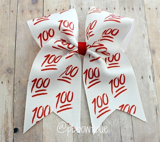 100 Emoji Cheer Bow Soccer Bow or Softball Bow