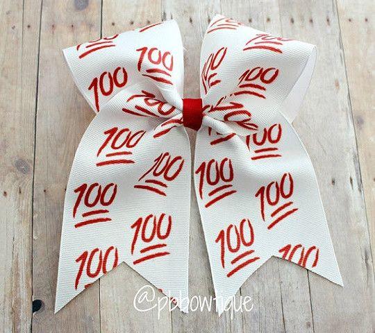 100 Emoji Cheer Bow Soccer Bow or Softball Bow
