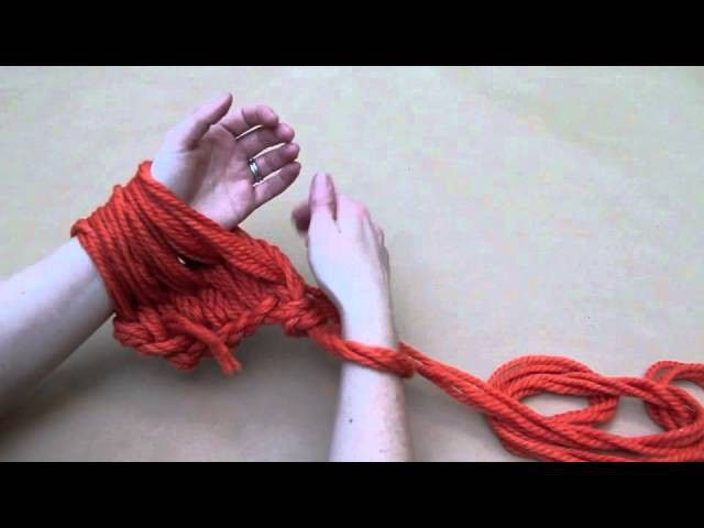 DIY Arm Knitting Tutorial: Learn how to arm knit the Infinity Scarf